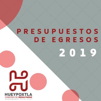 Presupuesto de Egresos 2019